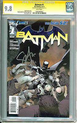 Batman New 52 #1 CGC 9.8 Signature Series signed by Scott Synder