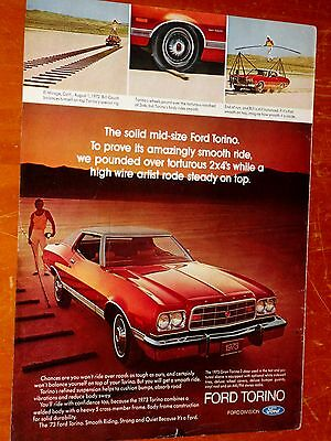 COOL 1973 FORD GRAND TORNIO COUPE AD - AMERICAN 70s VINTAGE RETRO OLD SCHOOL
