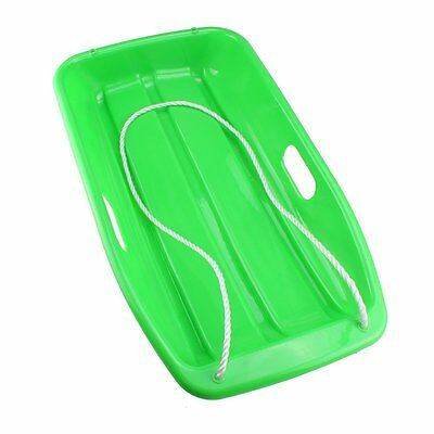 Plastic Outdoor Toboggan Snow Sled for Child Green N4B6