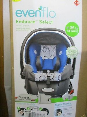 ~NEW~ Evenflo Embrace Select Infant Car Seat with Sure Safe Installation