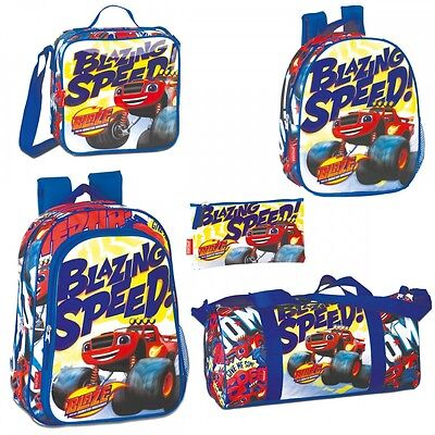 Blaze and The Monster Machines SPEED Backpack Rucksack Travel Gym Lunch Bag