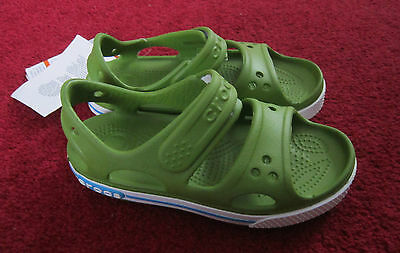 New With Tags Croc Bands 2 Green Childrens Sandals Size 11 C Childrens