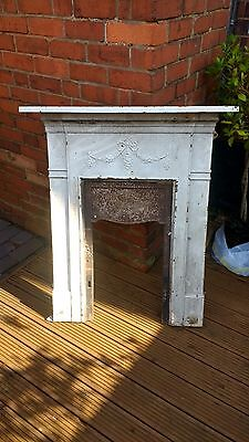 original antique cast iron bedroom fireplace