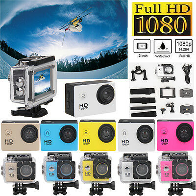 "Ultra HD 1080P SJ5000 Waterproof 2.0"" Screen Action Sports DV Camera Camcorder"