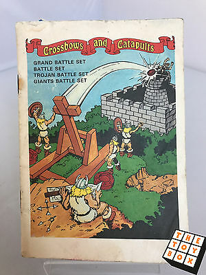 Crossbows and Catapults Board Game Battle Set Guide Instruction Manual 1983