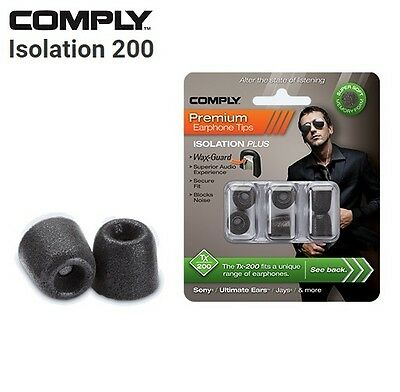 Comply Foam TX-200 Isolation + WaxGuard 3 Pairs Earphone Tips Medium Black MP