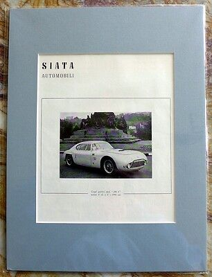 SIATA 208-S Coupe original advertisement; professionally matted