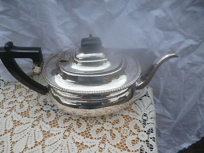 house of garrard silver plated teapot vintage