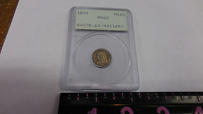 OGH RATTLER 1831 Capped Bust Half Dime PCGS MS 62 Uncirculated H10C