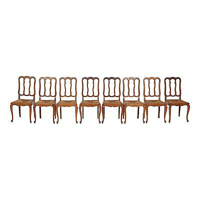 Appealing French Provincial 1930s Dining Chair - Set of 8