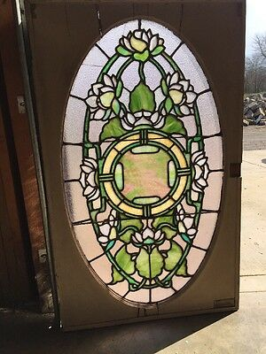 Sg 84 Antique Lillypad Rudy Brothers Oval Window 28 X 46