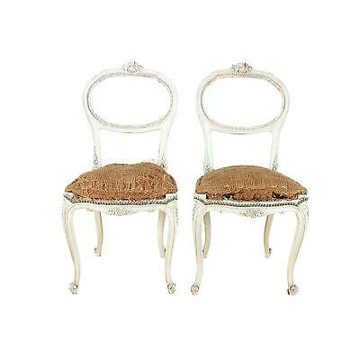 Covetable French Hall Chairs - a Pair