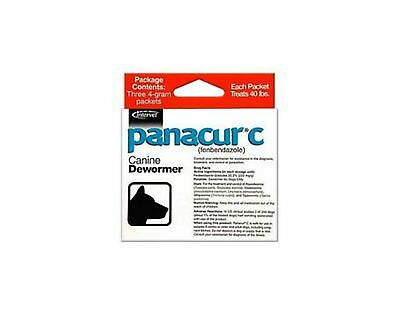 Panacur C Canine De-Wormer 4gm packets (3 Packets)