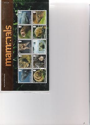 2010  Royal Mail Presentation Pack Mammals Mint Decimal Stamps