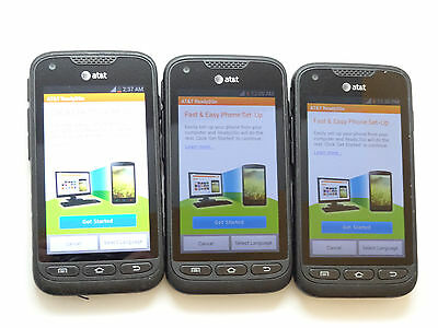Lot of 3 Samsung Galaxy Rugby Pro SGH-I547 AT&T Smartphones AS-IS GSM