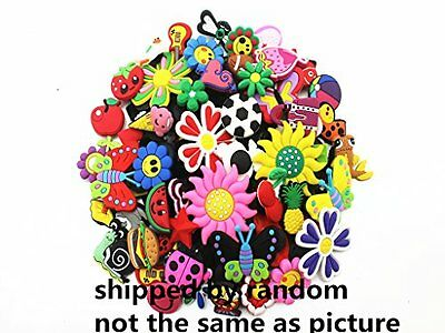 Lot of 50 Mixed PVC Different Shoe Charms for Croc & Jibbitz Bands Bracel...