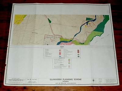 Vintage OTFORD, NSW, MAP- State Town Planning MAP, 1966- Large 81 x 97cms