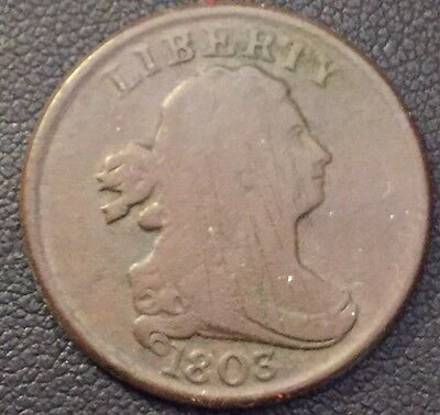 1803 Draped Bust Half Cent In Decent Condition #6022