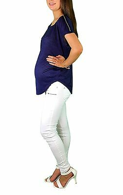 BNWT Chic Dressy Maternity Top With Zipper Detail - Szs 8,10,12 14 & 16
