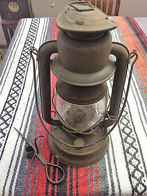 """Vintage 1923 Dietz Oil Lamp With Miners """"Sticking Tommy"""" SUPER SET!"""