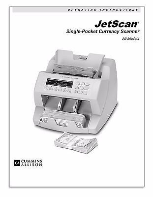 Cummins Allison JetScan Currency Counter Operating Instructions, Manual