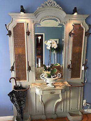 Antique Mirrored Marble Entryway Entry Wall Tree