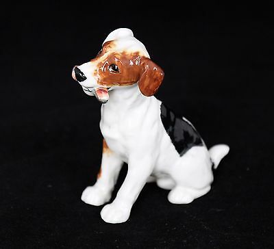 VINTAGE ROYAL DOULTON JACK RUSSELL DOG FIGURINE SITTING w/ BONE HN1159 RETIRED