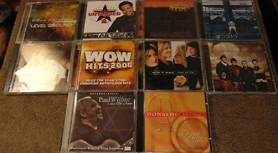 Lot of 10 Assorted CCM / Gospel CDs - Point of Grace  Three Crosses +