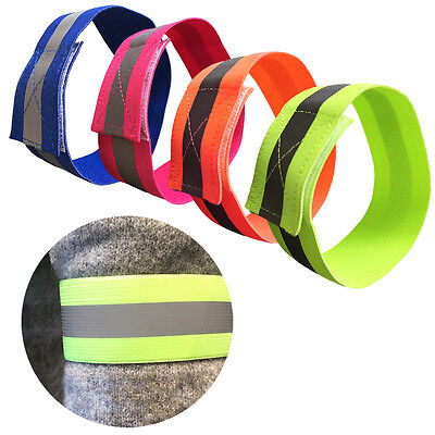 Safety Reflective Arm Band Belt For Night Running Cycling Outdoor Sports Party
