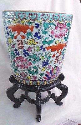 Vintage Chinese Ceramic Planter Vases