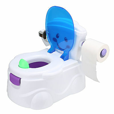 Baby Toilet Trainer Smiley Face Kid Toddler Music Training Potty Chair Seat