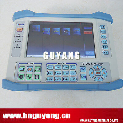 NEW Analog Digital Satellite TV Analyzer DVB-C/T/H/T2/S/S2 Deviser S7000