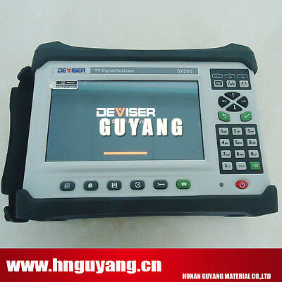 TV Signal Analyzer DVB-C/T/C2/T2/S/S2 Deviser S7200 Catv QAM Spectrum Analyzer