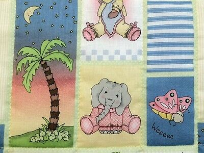 "New, handmade,""BAZOOPLES"", 35x44in, boys, baby/toddler quilted blanket/comforter"