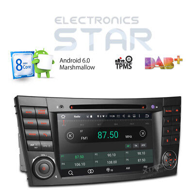 8-Core Android 6.0 Car DVD Player GPS DAB+ Mercedes Benz E CLS Class W211 W219