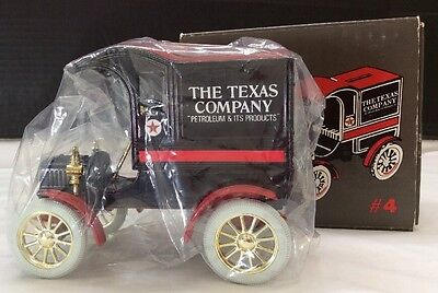 Ertl Collectibles Texaco Ford Delivery Car ~ Limited Edition ~ Coin Bank MIB