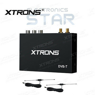 XTRONS DVB-T Mobile In Car Freeview Digital TV Box Receiver Tuner + Twin Antenna