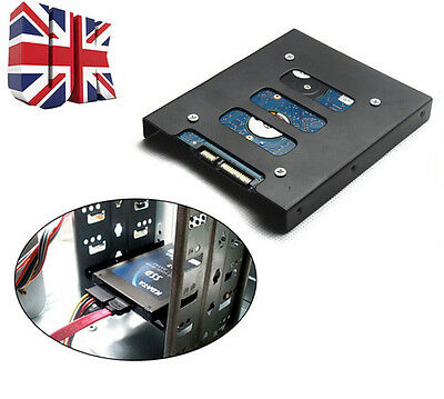 """UK 2.5"""" to 3.5"""" SSD to HDD PC Metal Adapter Mounting Bracket Hard Drive Holder"""
