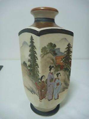 Antique Satsuma Vase - Signed Hakuzan