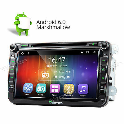 Eonon GPS Navigation Android 6.0 Car DVD Player Stereo for VW Skoda Seat Golf A