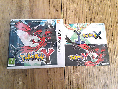 *no Game* Pokemon Y Version Case Box & Instructions Only! Nintendo 3Ds / 2Ds