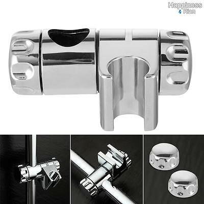 Chrome Shower Handset Holder for 25mm Riser Rails | Adjustable Double Locking UK