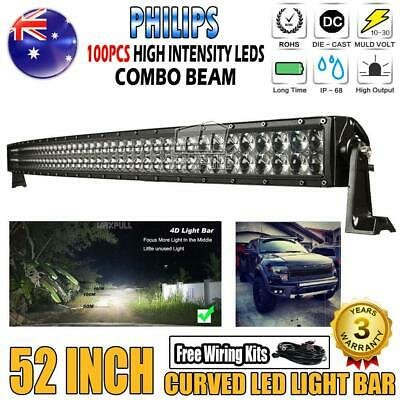 "50""inch 1620W Philips Led Work Light Bar Spot Flood Offroad Truck 4x4WD 52""/42"""