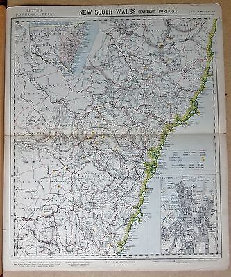 1883  Antique Map New South Wales Eastern Portion, Inset Sydney Plan