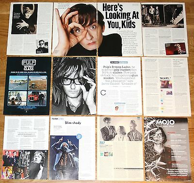 PULP clippings 1990s/00s photos Jarvis Cocker magazine articles