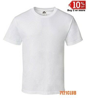 LOT 6 PACK ALSTYLE APPAREL AAA T SHIRT WHITE 1301 Mens Plain Short Sleeves S-5XL