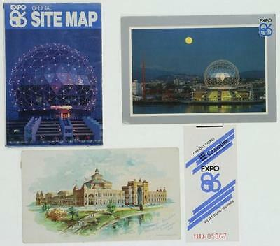 7 EXPOSITION CARDS INCLUDING AN EXPO 86 SITE MAP Lot 222