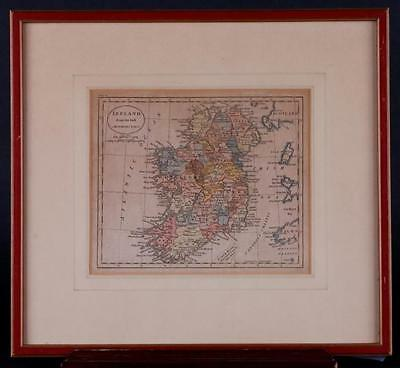 HAND COLORED MAP OF IRELAND Lot 24