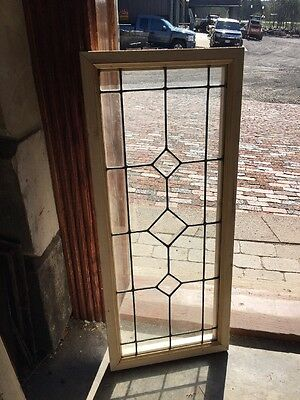 Sg 1362 Antique Beveled Unleaded Transom Window 14.125 X 33