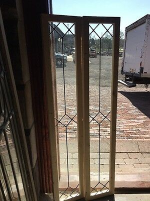 Sg 1363 2 Available Price Each Antique Leaded Glass Window 10 X 54